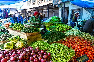 Vegetable market, Kohima, Nagaland, India, Asia