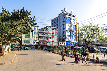 Square in front of the historic train station, Chittagong, Bangladesh, Asia