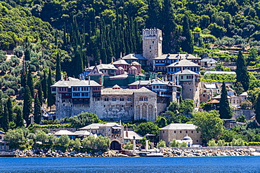 Moni Dochiariou Monastery, UNESCO World Heritage Site, Mount Athos, Central Macedonia, Greece, Europe