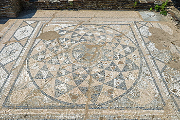 Mosaic in the Archaeological Park of Dion, Mount Olympus, Greece, Europe