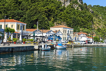 The port of Karlovasi, Samos, Greek Islands, Greece, Europe