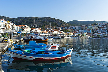 The port of Phytagoteio, Samos, Greek Islands, Greece, Europe