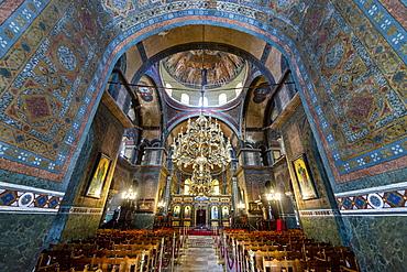Interior of the Hagia Sophia church, UNESCO World Heritage Site, Thessaloniki, Greece, Europe