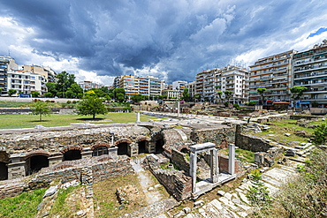 Ancient Agora (square), UNESCO World Heritage Site, Thessaloniki, Greece, Europe