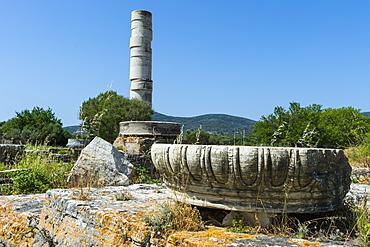 Heraoin of Samos, UNESCO World Heritage Site, Samos, Greek Islands, Greece, Europe