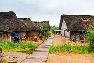 Reconstructed Viking village, Hedeby (Haithabu), UNESCO World Heritage Site, Schleswig-Holstein, Germany, Europe