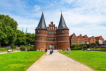 Holsten Gate, Lubeck, UNESCO World Heritage Site, Schleswig-Holstein, Germany, Europe