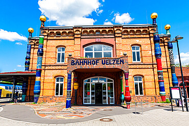 Hundertwasser railway station, Uelzen, Lower Saxony, Germany, Europe