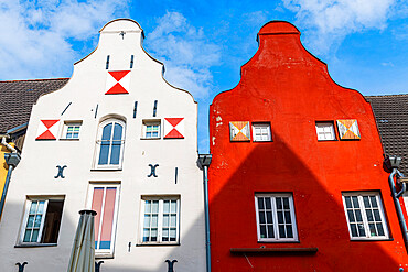 Hanseatic houses, Hanseatic city of Wismar, UNESCO World Heritage Site, Mecklenburg-Vorpommern, Germany, Europe