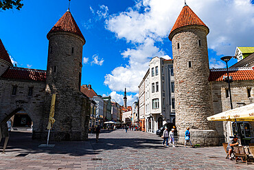 Viru Gate, Old Town of Tallinn, UNESCO World Heritage Site, Estonia, Europe