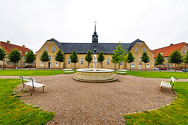 The Moravian Church, UNESCO World Heritage Site, Christiansfeld, Southern Jutland, Denmark, Scandinavia, Europe