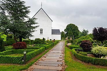 Jelling church, Unesco world heritage site Jelling stones, Jelling, Denmark