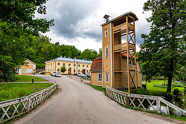 Traditional house in the Fiskars company town, Raseborg, Finland, Europe