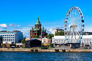 Skyline with Uspenski Cathedral, Helsinki, Finland, Europe