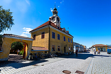 Old Town Hall in Old Rauma, UNESCO World Heritage Site, Finland, Europe