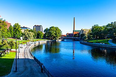 Tammerkoski riverfront, Tampere, Finland, Europe