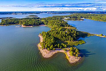 Aerial of Ruissalo peninsula, Turku, Finland, Europe