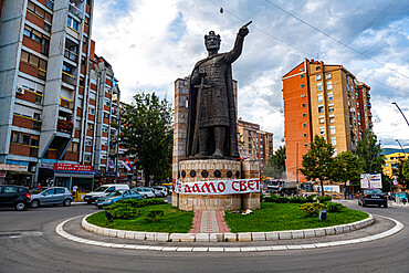 Monument to the Holy Great Martyr King Lazarus, Serbian enclave, Mitrovica, Kosovo, Europe
