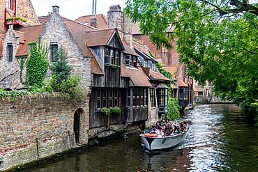 Rozenhoedkaai, Bruges, UNESCO World Heritage Site, Belgium, Europe