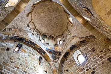 Interior of Durdevi Stupovi Monastery, UNESCO World Heritage Site, Novi Pazar, Serbia, Europe