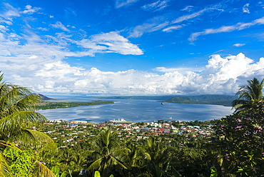 View over Rabaul, East New Britain, Papua New Guinea, Pacific