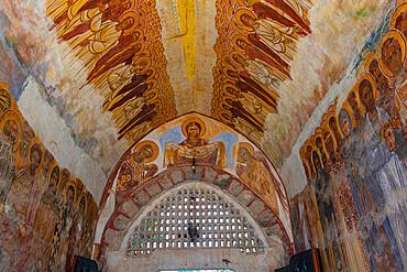 Religious roof paintings, Zica Orthodox Monastery, Zica, Serbia, Europe