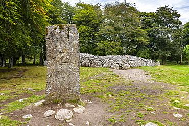 Clava cairn, Bronze Age circular chamber tomb, Inverness, Highlands, Scotland, United Kingdom, Europe