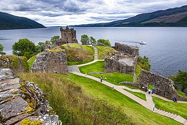 Urquhart Castle, Loch Ness, Highlands, Scotland, United Kingdom, Europe