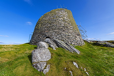 Dun Carloway Broch tower, Isle of Lewis, Outer Hebrides, Scotland, United Kingdom, Europe