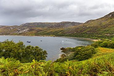 Bay along the N500 (NC500) (North Coast 500), Scotland, United Kingdom, Europe