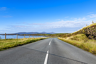Coastal road, Isle of Skye, Inner Hebrides, Scotland, United Kingdom, Europe