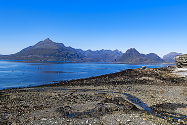 View from Elgol on the Black Cuillin ridge, Isle of Skye, Inner Hebrides, Scotland, United Kingdom, Europe