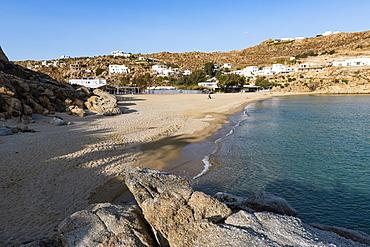 Deserted Super Paradise beach, Mykonos, Cyclades, Greek Islands, Greece, Europe