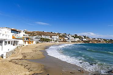 Paralia Platis Gialos beach, Mykonos, Cyclades, Greek Islands, Greece, Europe
