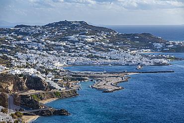 View over Mykonos, Cyclades, Greek Islands, Greece, Europe