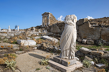 Delos, UNESCO World Heritage Site, near Mykonos, Cyclades, Greek Islands, Greece, Europe