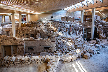 Prehistoric Town of Akrotiri, Santorini, Greece