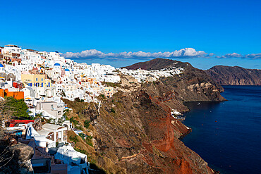 Whitewashed architecture, Oia, Santorini, Greece