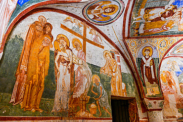 Colourful Crypt of the Frescoes, Unesco world heritage site Aquileia, Italy