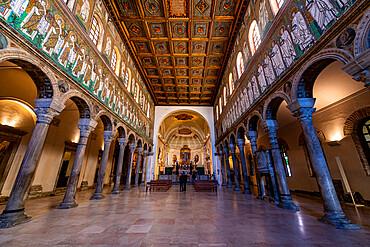Mosaics in the Basilica di Sant'Apollinare Nuovo, Unesco world heritage site Ravenna, Italy