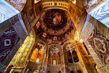 Beautiful mosaics in the Basilica di San Vitale, Unesco world heritage site Ravenna, Italy