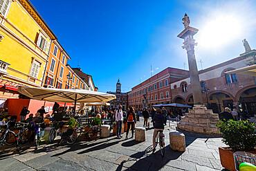 Piazza del Popolo, Unesco world heritage site Ravenna, Italy