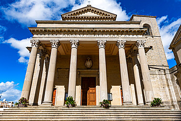 Basilica of San Marino - Pieve, Historic center, Unesco world heritage site San Marino, Italy