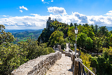 Falesia Second Tower, historic center, Unesco world heritage site San Marino, Italy