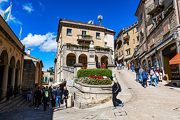 Historic center, Unesco world heritage site San Marino, Italy