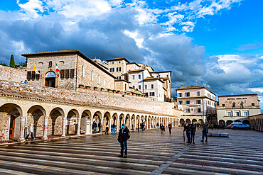 Square before the Basilica of Saint Francis of Assisi, Unesco world heritage site Assisi, Italy