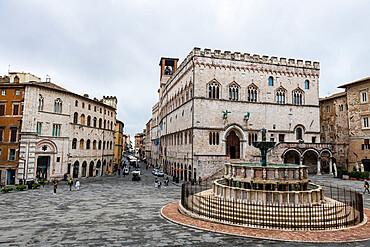 Palazzo dei Priori, historc center of Perugia, Italy