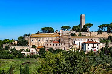 Panorama of the Unesco world heritage site Tarquinia, Italy