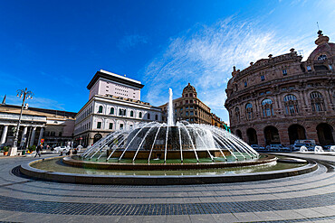 Piazza De Ferrari, Unesco world heritage site Genoa, Italy
