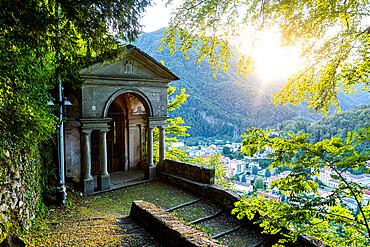 Little chapel, Unesco world heritage site Sacro Monte de Varallo, Italy